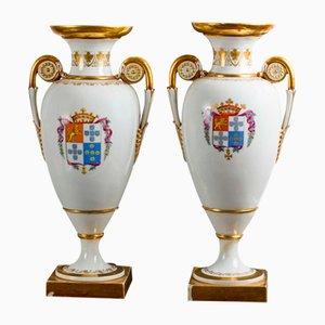 Vases Antiques en Porcelaine de Meissen, Set de 2
