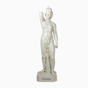 Antique Allegory of America Sculpture by José P. Valente