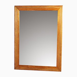 Oak Beveled Mirror, 1930s