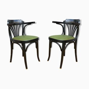 Vintage Bistro Armchairs, Set of 2