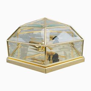 Aplique estilo Hollywood Regency italiano de vidrio tallado, años 70