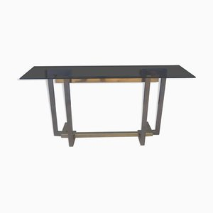 Vintage Golden Brass Console Table