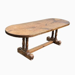 Antique French Oak Farmhouse Dining Table