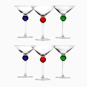 Murano Martini Glasses by Amelio Cenedese for Cenedese, 1980s, Set of 6