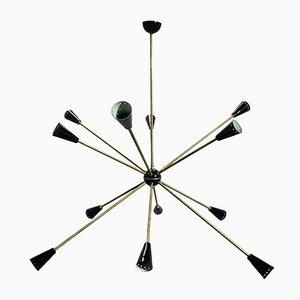 Mid-Century Sputnik Ceiling Lamp from Stilnovo