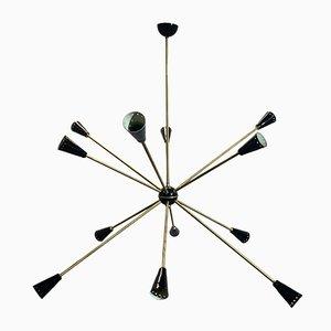 Mid-Century Sputnik Deckenlampe von Stilnovo