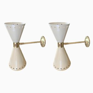 Wall Sconces from Stilnovo, 1950s, Set of 2