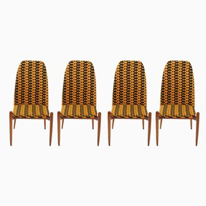 Czechoslovakian Teak Dining Chairs, 1970s, Set of 4