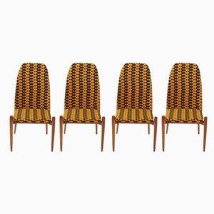 Tschechoslowakische Esszimmerstühle aus Teak, 1970er, 4er Set