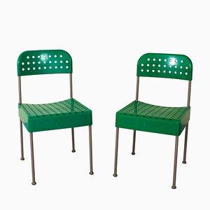 Esszimmerstühle von Enzo Mari für Castelli / Anonima Castelli, 1970er, 2er Set