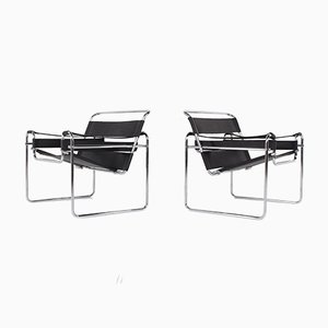 Wassily Armchairs, 1970s, Set of 2