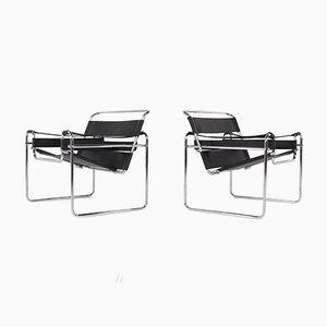 Wassily Armlehnstühle, 1970er, 2er Set