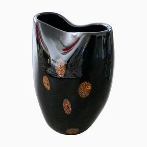 Italienische Vintage Vase aus Muranoglas, 1970er