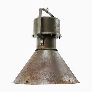 Lampe à Suspension Industrielle Vintage en Métal Marron et Vert