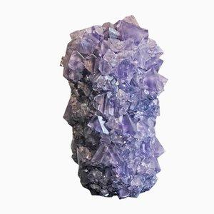 Kleine Kristallvase in Blau von Isaac Monté