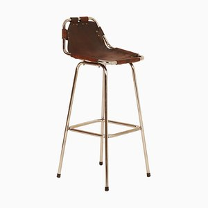 Mid-Century Chrome and Leather Bar Stool, 1960s