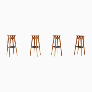 French Stools, 1950s, Set of 4