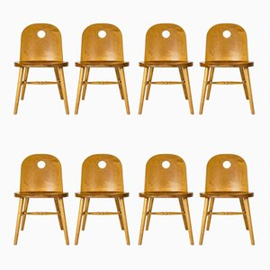 Esszimmerstühle von Uno Åhrén für Gemla Möbler, 1930er, 8er Set