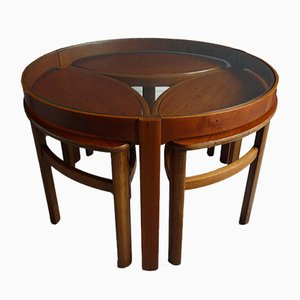 Vintage Teak Nesting Tables from Nathan