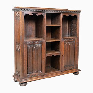 Antique Oak Cabinet by Robertson and Coleman for Norwich, 1880s