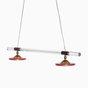 Lámpara colgante de plexiglás y metacrilato de Harco Loor, años 80