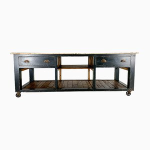 Painted Pine Work Table, 1940s