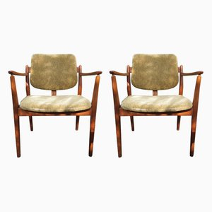 Mid-Century Armchairs by Helge Sibast for Sibast, Set of 2