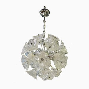 Vintage Metal and Glass Ceiling Lamp, 1970s