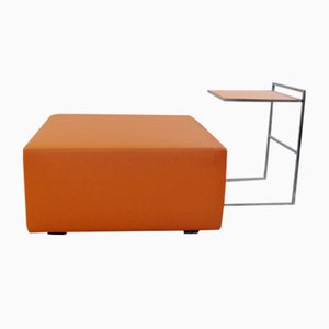 Vintage Tisch & Fußhocker für Poltrona Frau, 2er Set
