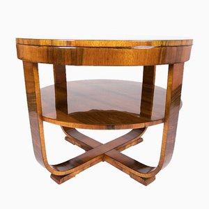 French Walnut Veneered Coffee Table, 1920s