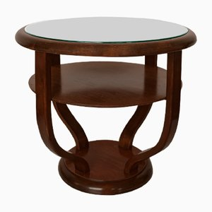 Vintage Art Deco Mahogany Side Table, 1930s
