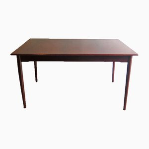 Rosewood Veneer and Mahogany Extendable Dining Table, 1960s