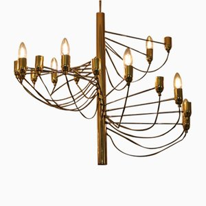 Vintage Brass Ceiling Lamp, 1970s