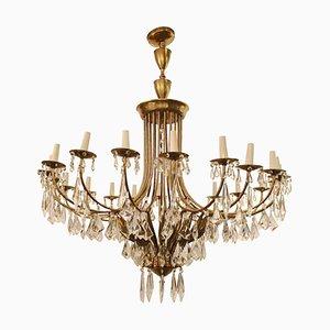 Vintage Gilt Bronze Pendant Lamp by Oscar Torlasco, 1950s
