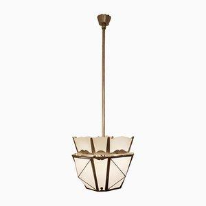 Lámpara de techo farol Art Déco vintage