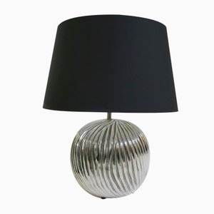 Vintage Silver and Ceramic Table Lamp