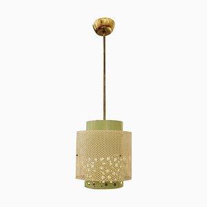 Lámpara colgante vintage de metal de Mathieu Mategot, años 60