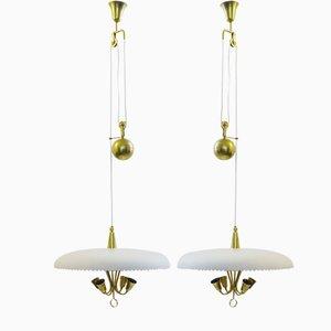 Vintage Italian Adjustable Ceiling Lamps, Set of 2