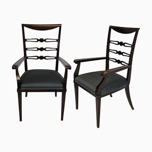 Mid-Century Italian Wooden Dining Chairs by Paolo Buffa, 1940s, Set of 2