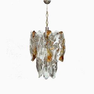 Lámpara de araña de cristal de Murano de Carlo Nason para Mazzega, años 70