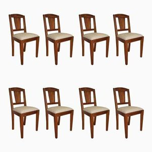 Art Deco Dining Chairs, 1930s, Set of 8