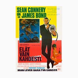 Póster de James Bond You Only Live Twice, 1967