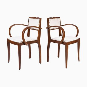Art Deco Oak Armchairs, 1920s, Set of 2