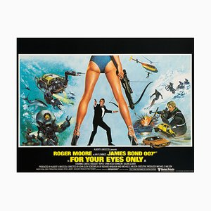 James Bond For Your Eyes Only Film Poster by Brian Bysouth, 1981