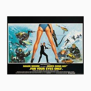 Póster de la película For Your Eyes Only James Bond de Brian Bysouth, 1981