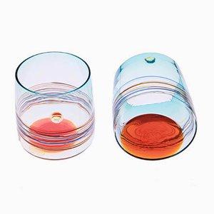 Bicchieri Sfumato in vetro di Murano di Amelio & Gino Cenedese per Cenedese, anni '60, set di 10