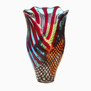 Jarrón de cristal de Murano de Lino Tagliapietra, década de 2000
