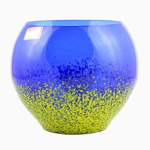 Deutsche Glasschüssel in Blau & Gelb von Joska Kristall, 1960er