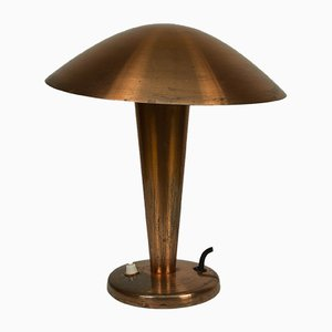 Czechoslovakian Brass Table Lamp, 1930s