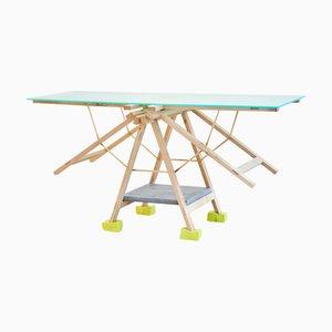 Trestle Dazzle Table by REM Atelier
